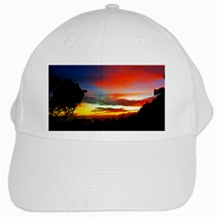 Sunset Mountain Indonesia Adventure White Cap by Celenk