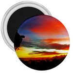 Sunset Mountain Indonesia Adventure 3  Magnets