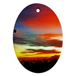 Sunset Mountain Indonesia Adventure Ornament (Oval)