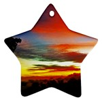 Sunset Mountain Indonesia Adventure Ornament (Star)