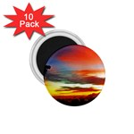 Sunset Mountain Indonesia Adventure 1.75  Magnets (10 pack)