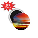 Sunset Mountain Indonesia Adventure 1.75  Magnets (100 pack)