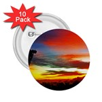 Sunset Mountain Indonesia Adventure 2.25  Buttons (10 pack)