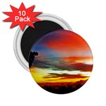 Sunset Mountain Indonesia Adventure 2.25  Magnets (10 pack)
