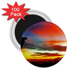 Sunset Mountain Indonesia Adventure 2.25  Magnets (100 pack)