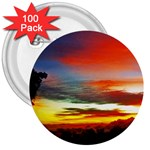 Sunset Mountain Indonesia Adventure 3  Buttons (100 pack)