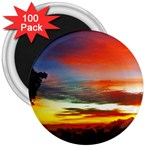 Sunset Mountain Indonesia Adventure 3  Magnets (100 pack)