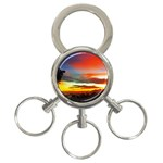 Sunset Mountain Indonesia Adventure 3-Ring Key Chains