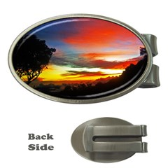 Sunset Mountain Indonesia Adventure Money Clips (oval)  by Celenk