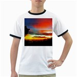 Sunset Mountain Indonesia Adventure Ringer T-Shirts