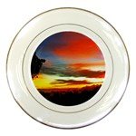 Sunset Mountain Indonesia Adventure Porcelain Plates