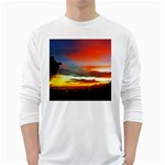 Sunset Mountain Indonesia Adventure White Long Sleeve T-Shirts