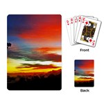 Sunset Mountain Indonesia Adventure Playing Card
