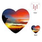 Sunset Mountain Indonesia Adventure Playing Cards (Heart)