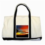 Sunset Mountain Indonesia Adventure Two Tone Tote Bag