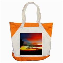 Sunset Mountain Indonesia Adventure Accent Tote Bag by Celenk