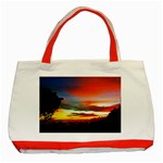 Sunset Mountain Indonesia Adventure Classic Tote Bag (Red)