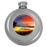 Sunset Mountain Indonesia Adventure Round Hip Flask (5 oz)