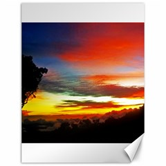 Sunset Mountain Indonesia Adventure Canvas 12  X 16   by Celenk