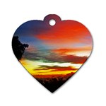 Sunset Mountain Indonesia Adventure Dog Tag Heart (Two Sides)