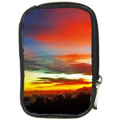 Sunset Mountain Indonesia Adventure Compact Camera Cases by Celenk