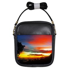 Sunset Mountain Indonesia Adventure Girls Sling Bags by Celenk