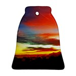 Sunset Mountain Indonesia Adventure Bell Ornament (Two Sides)