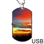 Sunset Mountain Indonesia Adventure Dog Tag USB Flash (Two Sides)