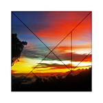 Sunset Mountain Indonesia Adventure Acrylic Tangram Puzzle (6  x 6 )