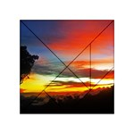 Sunset Mountain Indonesia Adventure Acrylic Tangram Puzzle (4  x 4 )