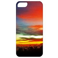 Sunset Mountain Indonesia Adventure Apple Iphone 5 Classic Hardshell Case by Celenk