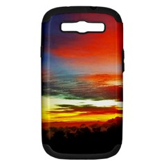Sunset Mountain Indonesia Adventure Samsung Galaxy S Iii Hardshell Case (pc+silicone) by Celenk