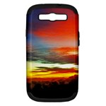 Sunset Mountain Indonesia Adventure Samsung Galaxy S III Hardshell Case (PC+Silicone)