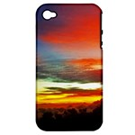 Sunset Mountain Indonesia Adventure Apple iPhone 4/4S Hardshell Case (PC+Silicone)