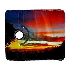 Sunset Mountain Indonesia Adventure Galaxy S3 (flip/folio) by Celenk