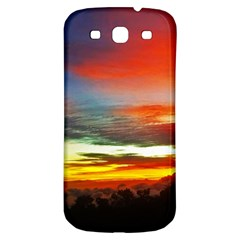Sunset Mountain Indonesia Adventure Samsung Galaxy S3 S Iii Classic Hardshell Back Case by Celenk