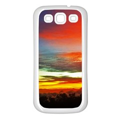 Sunset Mountain Indonesia Adventure Samsung Galaxy S3 Back Case (white) by Celenk