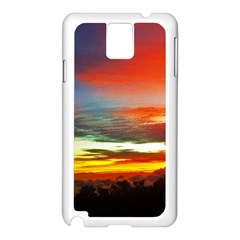 Sunset Mountain Indonesia Adventure Samsung Galaxy Note 3 N9005 Case (white) by Celenk