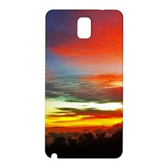 Sunset Mountain Indonesia Adventure Samsung Galaxy Note 3 N9005 Hardshell Back Case by Celenk