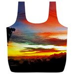 Sunset Mountain Indonesia Adventure Full Print Recycle Bags (L)