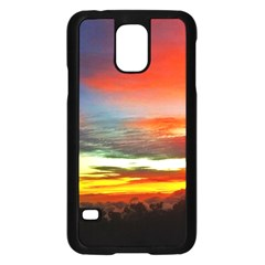 Sunset Mountain Indonesia Adventure Samsung Galaxy S5 Case (black) by Celenk