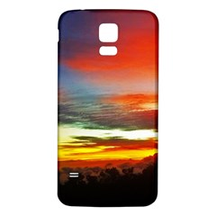 Sunset Mountain Indonesia Adventure Samsung Galaxy S5 Back Case (white) by Celenk