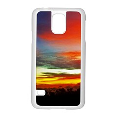 Sunset Mountain Indonesia Adventure Samsung Galaxy S5 Case (white) by Celenk