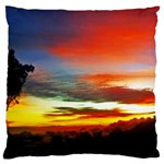 Sunset Mountain Indonesia Adventure Large Flano Cushion Case (One Side)