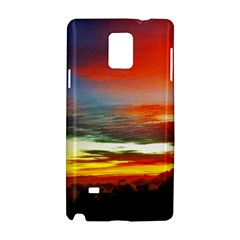 Sunset Mountain Indonesia Adventure Samsung Galaxy Note 4 Hardshell Case by Celenk