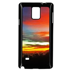 Sunset Mountain Indonesia Adventure Samsung Galaxy Note 4 Case (black) by Celenk
