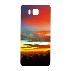 Sunset Mountain Indonesia Adventure Samsung Galaxy Alpha Hardshell Back Case by Celenk