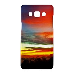 Sunset Mountain Indonesia Adventure Samsung Galaxy A5 Hardshell Case  by Celenk