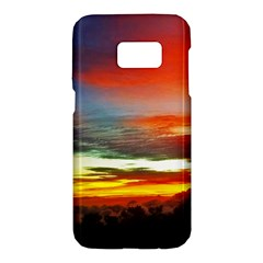 Sunset Mountain Indonesia Adventure Samsung Galaxy S7 Hardshell Case  by Celenk