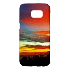 Sunset Mountain Indonesia Adventure Samsung Galaxy S7 Edge Hardshell Case by Celenk